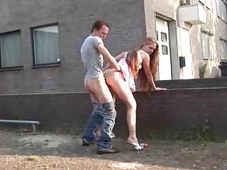 Сняли девушку на улице секс